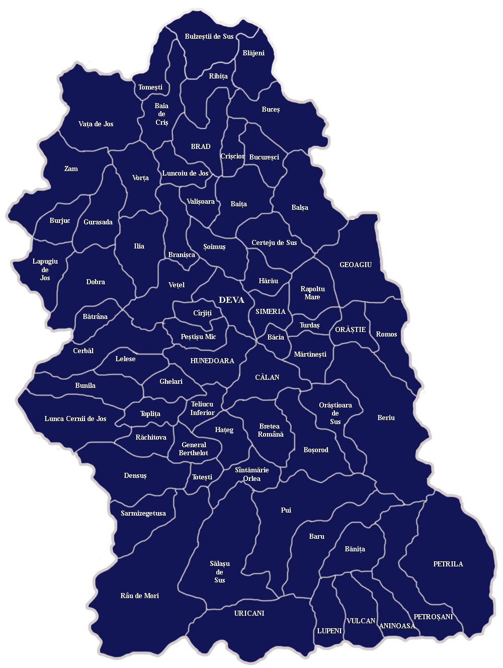 Harta Bcpi Din Judetul Hunedoara Oficiul De Cadastru și