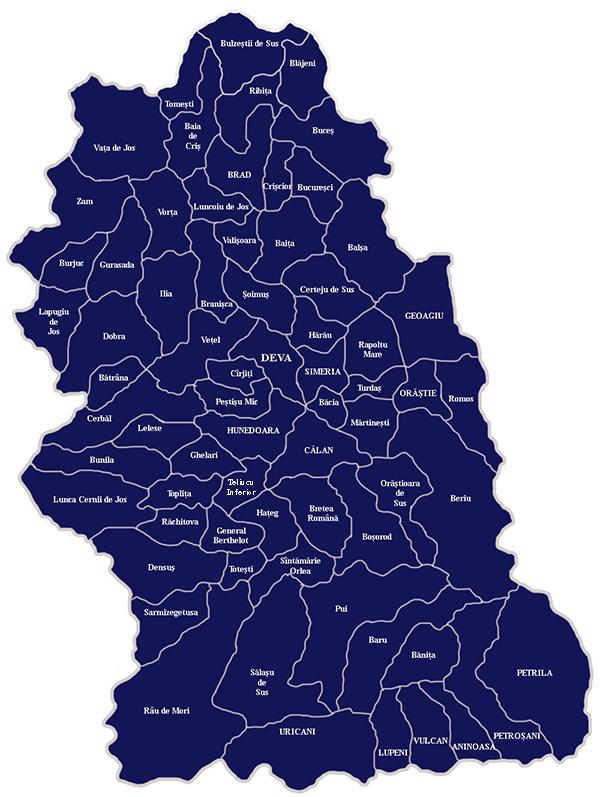 Harta Bcpi din Hunedoara